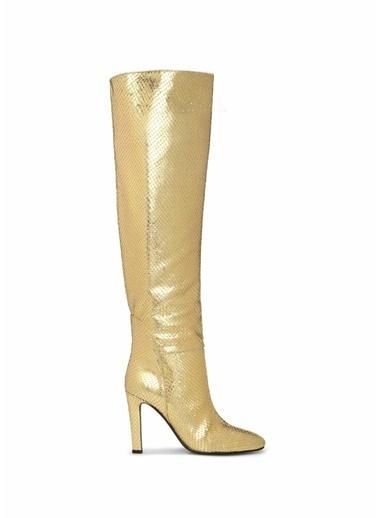 Giuseppe Zanotti Giuseppe Zanotti  Dokulu Kadın Deri Çizme 101538906 Altın